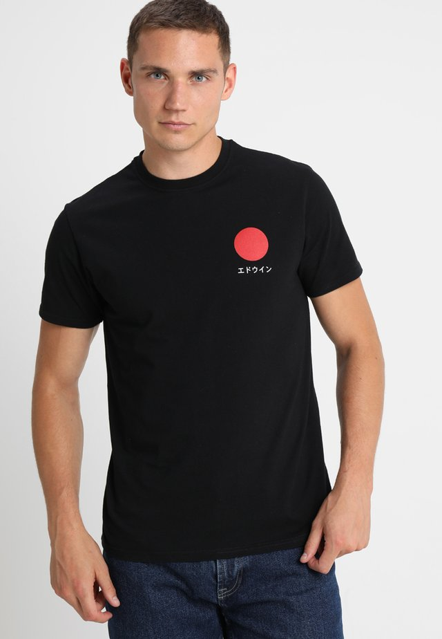 JAPANESE SUN - Print T-shirt - black