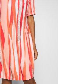 Barbara Lebek - Day dress - coral/ orange/ taupe - 5