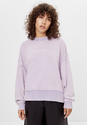 MIT PRINT UND STICKEREI  - Sweatshirt - mauve