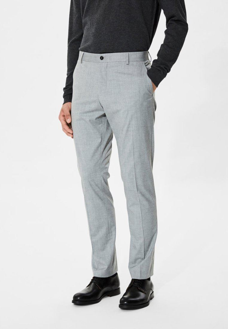 Selected Homme - Puvunhousut - light grey melange