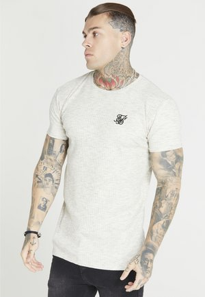 SIKSILK TEE - Basic T-shirt - snow marl