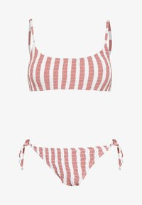 Cotton On Body - SCOOP CROP TIE SIDE SET - Bikini - rose smoke - 4