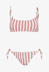 SCOOP CROP TIE SIDE SET - Bikini - rose smoke