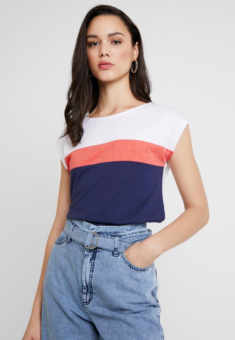Even&Odd - Print T-shirt - red/dark blue