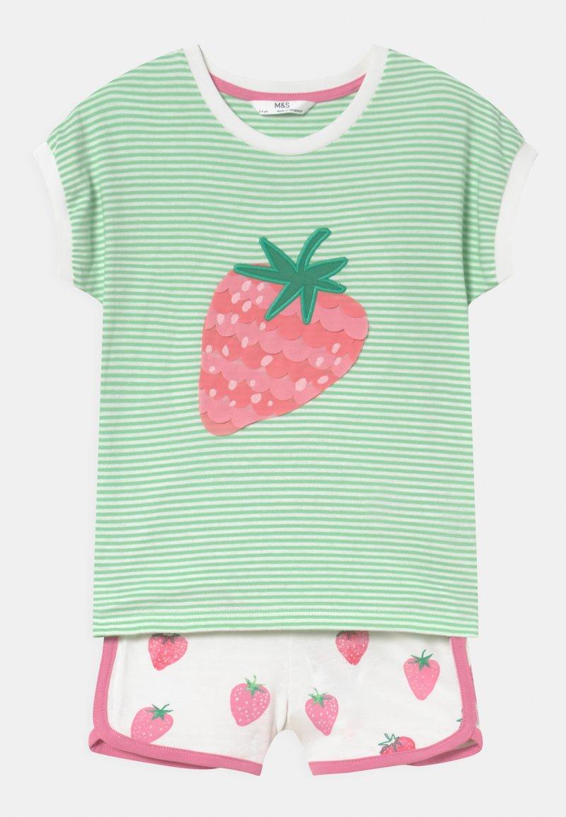 Marks & Spencer London - STRAWBERRY  - Pyjama set - green mix