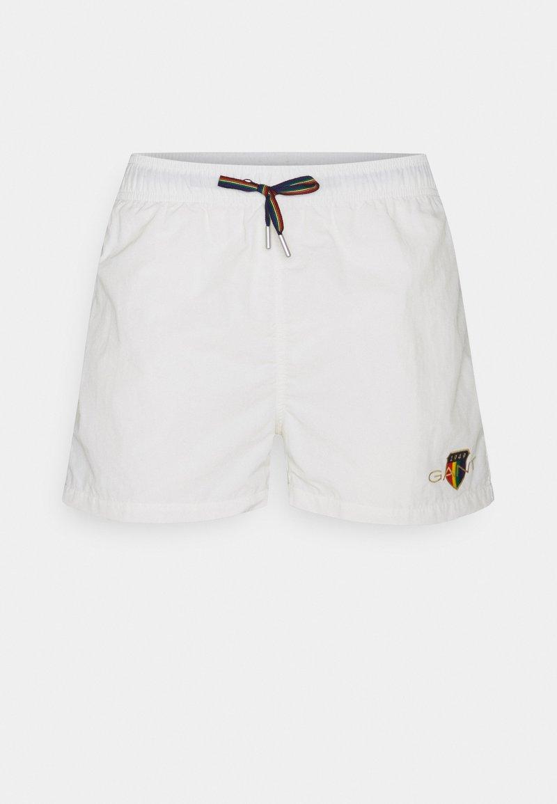 GANT - PRIDE CREST SWIM - Swimming shorts - eggshell
