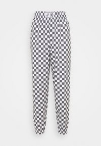 NEW girl ORDER - WHITE CHECKERBOAD TROUSER - Tracksuit bottoms - black/white - 0