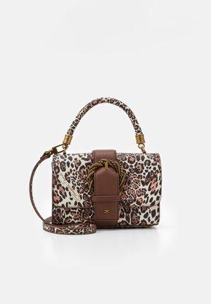 RING LOGO SHOULDER BAG - Handbag - naturale