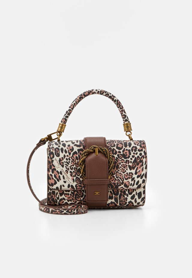 LEOPARD TOP HANDLE WITH BUCKLE - Handbag - naturale