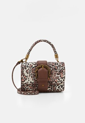 LEOPARD TOP HANDLE WITH BUCKLE - Handväska - naturale
