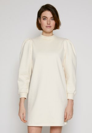 PUFF SLEEVE DRESS - Denní šaty - soft creme beige