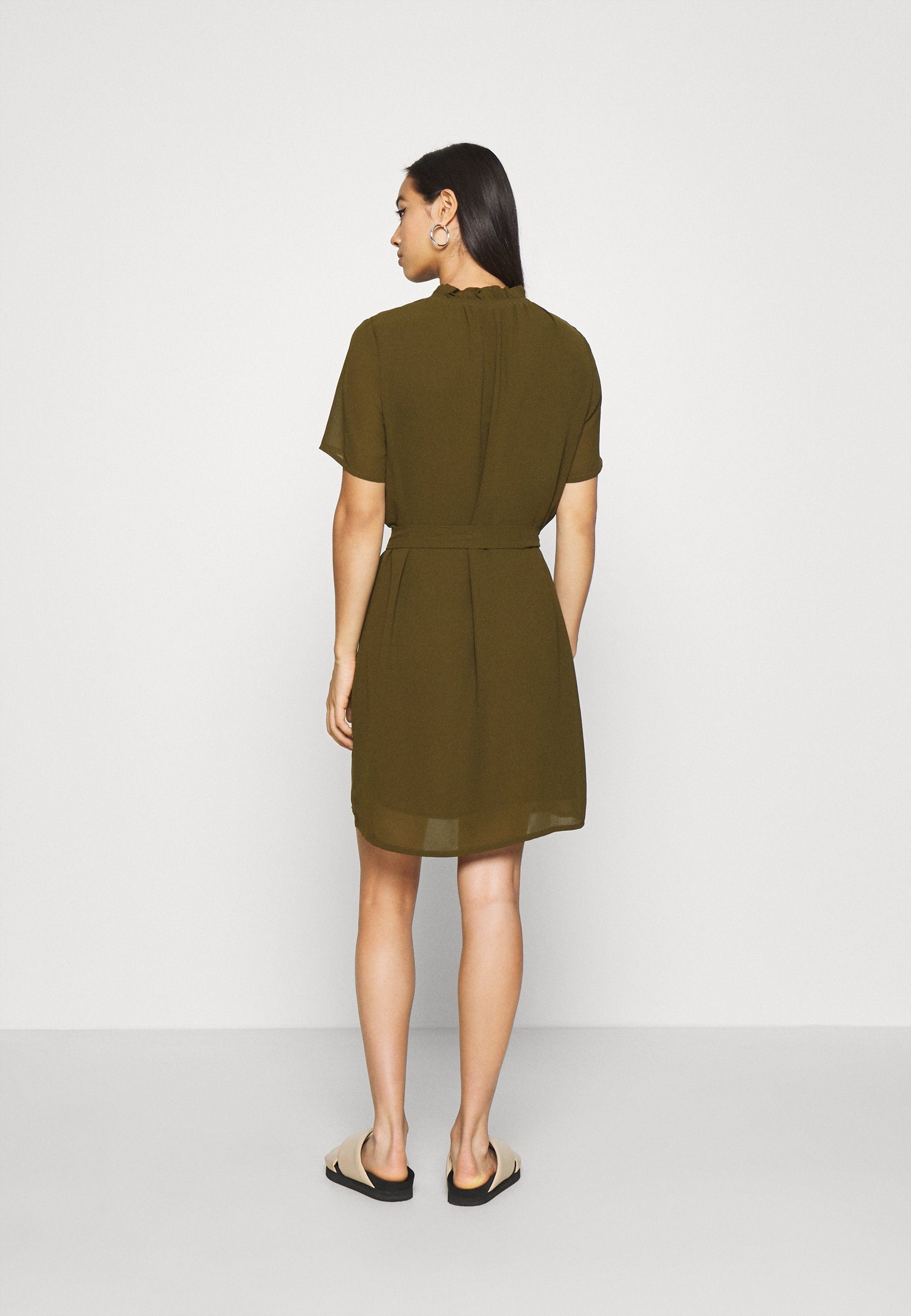 Aaa Quality Women's Clothing Minimum LAMA Day dress dark olive GqzwjSP7Q