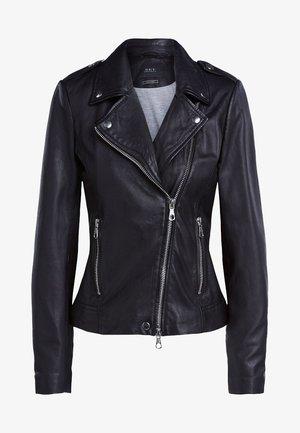 THE TYLER - Leather jacket - black