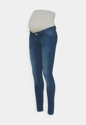 PCMDELLA - Jeansy Skinny Fit - medium blue denim