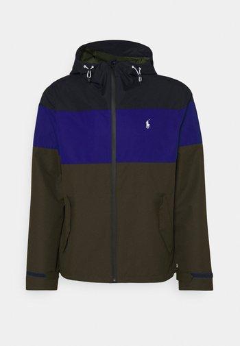 COLOR-BLOCKED HOODED JACKET - Summer jacket - army multi