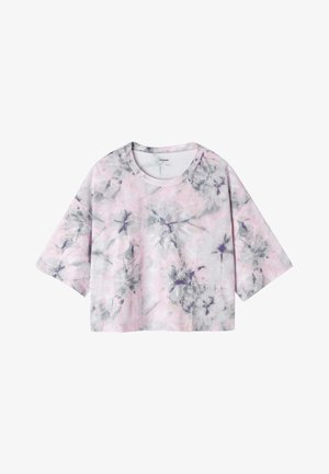 Print T-shirt - st grey tie&dye