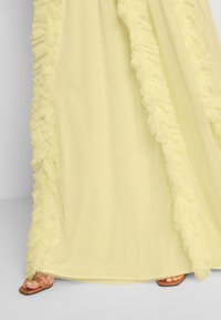 Anaya with love - V NECK FLUTTER SLEEVE DRESS WITH RUFFLE - Occasion wear - lemon - 4