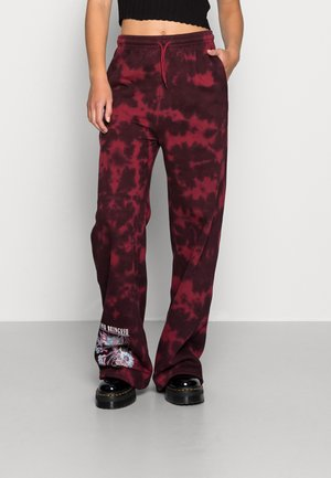BEVINE BEINGS FAIRY TIE DYE - Tracksuit bottoms - red