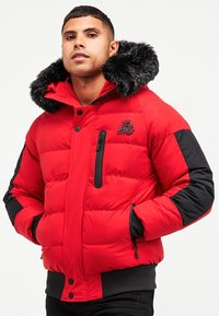 Kings Will Dream - BROMLEY PUFFER BOMBER JACKET - Viegla jaka - red - 0