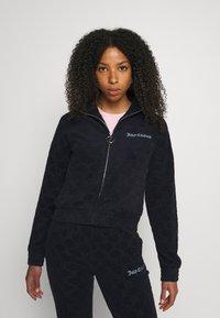Juicy Couture - TOWEL TANYA TRACK - Zip-up sweatshirt - night sky - 3