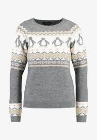 Dorothy Perkins - FAIRISLE TINSEL PENGUIN - Jumper - grey marl - 4