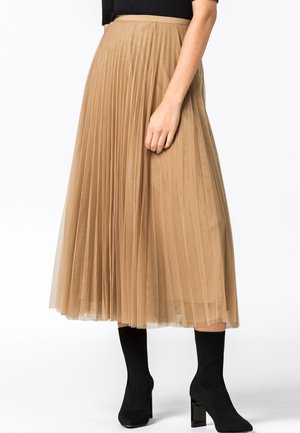 Pleated skirt - camel