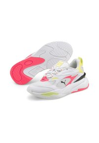 Puma - RS-FAST POP WN'S - Sneakers laag - puma white-ignite pink-soft fluo yellow - 2