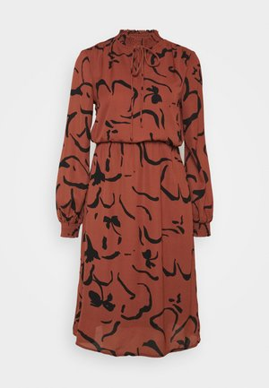 VMKALINDA DRESS - Day dress - mahogany/kalinda