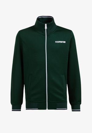 Felpa con zip - green