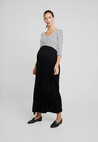 9Fashion - MILENNA - Maxi dress - black/white - 0
