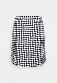 HOUNDSTOOTH SKIRT - A-line skirt - black/white