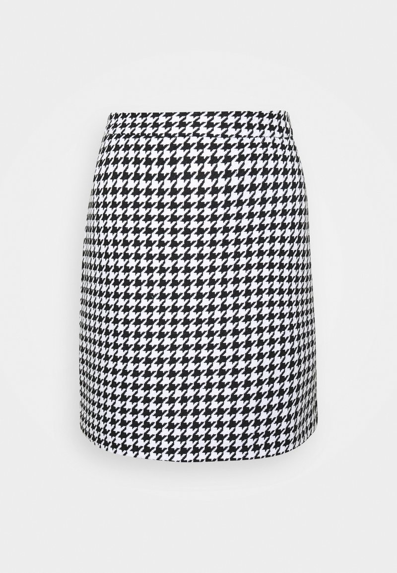 NA-KD - HOUNDSTOOTH SKIRT - A-line skirt - black/white