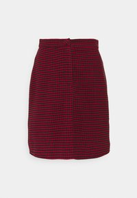 Missguided Tall - DOGTOOTH PRINT MINI SKIRT - A-line skirt - red - 0