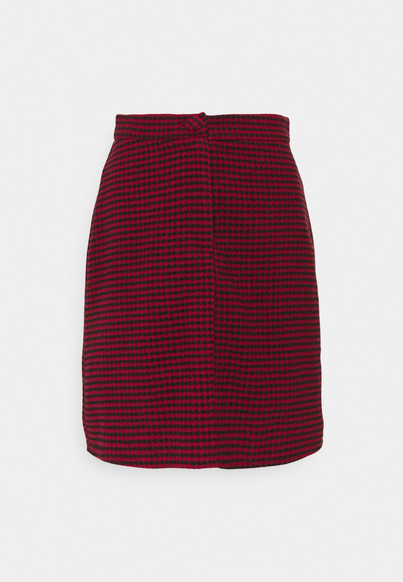 Missguided Tall - DOGTOOTH PRINT MINI SKIRT - A-line skirt - red