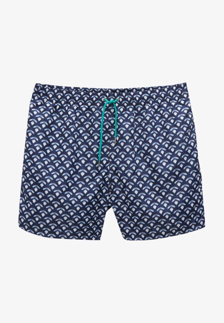 Massimo Dutti - Swimming shorts - blue black denim