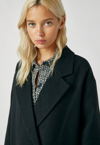 PULL&BEAR - Classic coat - mottled black - 3