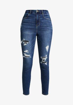 CURVY SUPER HI RISE JEGGING - Jeans Skinny Fit - indigo