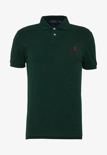 SLIM FIT MESH POLO SHIRT - Polo shirt - college green