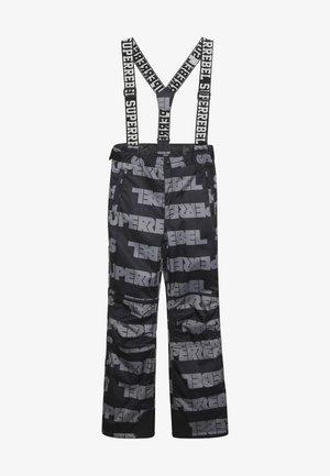 SKI PANT ALL OVER - Snow pants - black