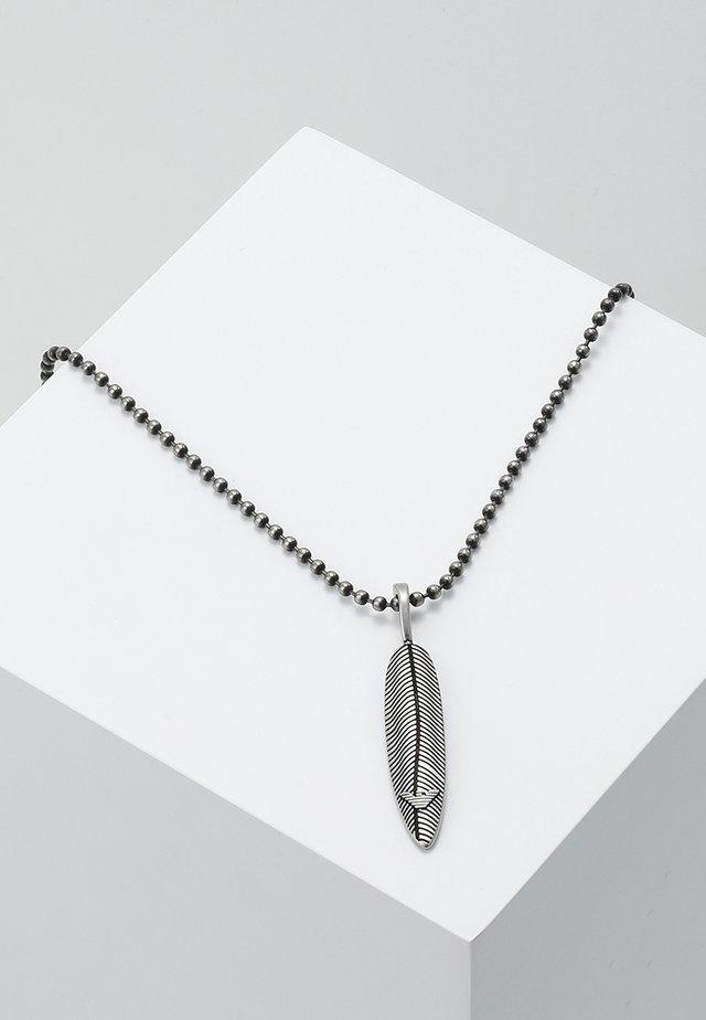 Necklace - silver-coloured/black