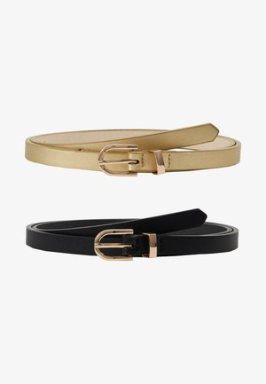 2 PACK - Belt - black/gold