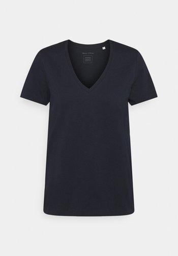 SHORT SLEEVE V NECK - Basic T-shirt - dark blue