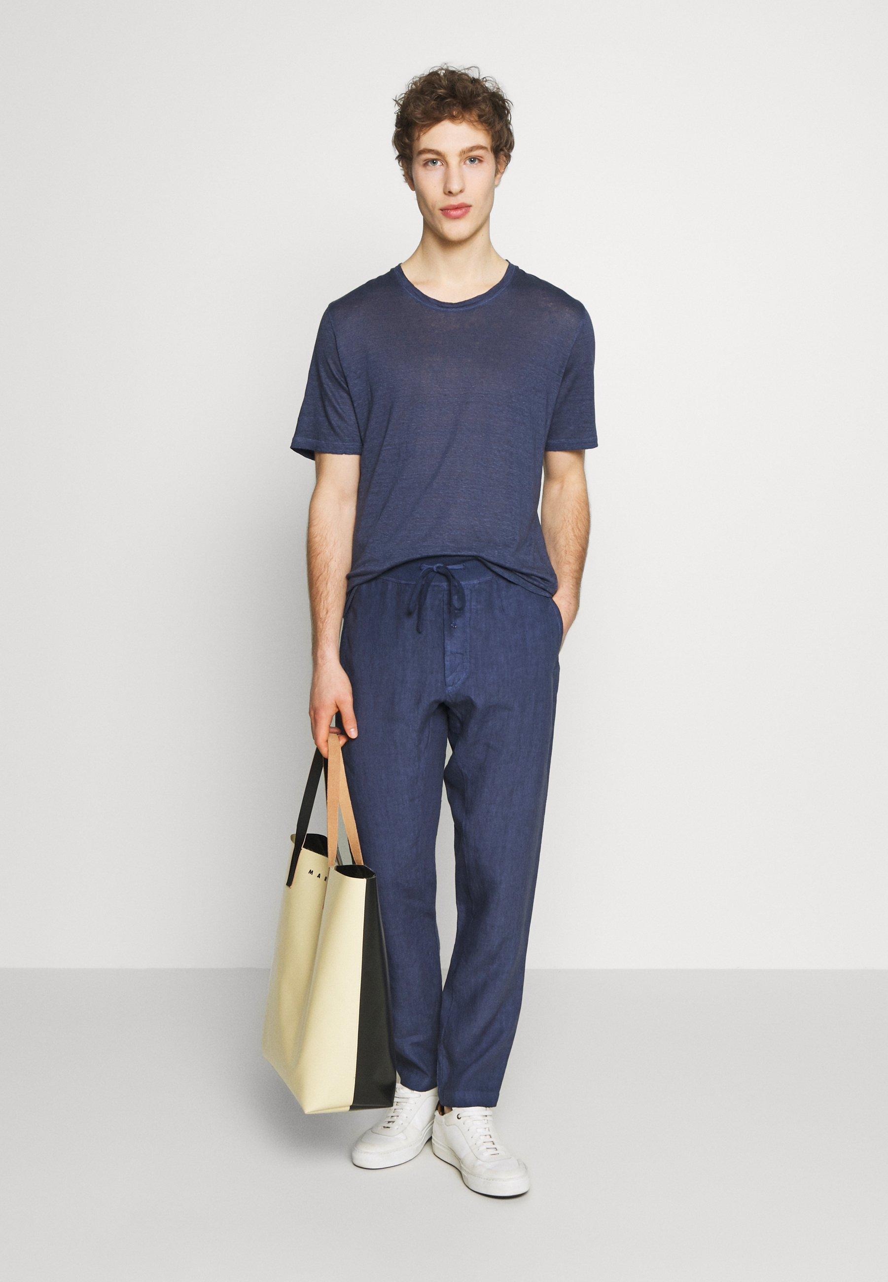 120% Lino Pantalon classique - dark blue fade