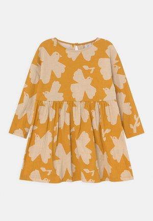 MINI DRESS LOOSE FIT - Jersey dress - dark dusty yellow