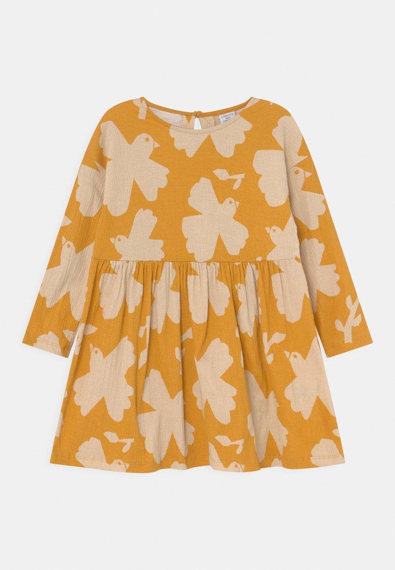 Lindex - MINI DRESS LOOSE FIT - Jersey dress - dark dusty yellow