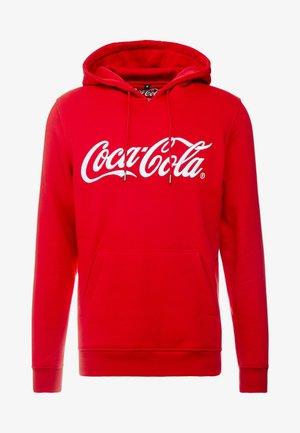 COCA COLA CLASSIC HOODY - Jersey con capucha - red