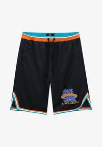 PULL&BEAR - BASKETBALL  SPACE JAM - Sports shorts - mottled black - 6