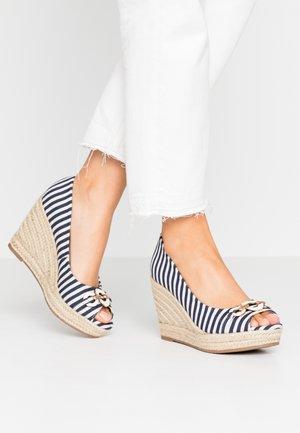 CARMELA - Peeptoe heels - blue