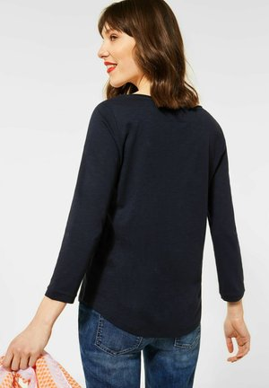 MIT 3/4 ÄRMEL - Long sleeved top - blau