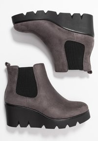Anna Field - Wedge Ankle Boots - grey - 3
